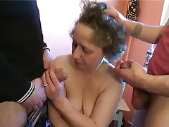 Gangbang, Group Sex, MILF, Old and Young, Russian