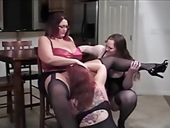 BBW, Big Boobs, Big Butts, Masturbation, Threesome