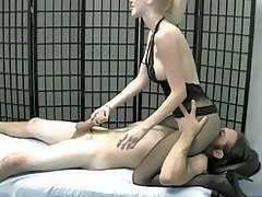 Ass Licking, Blonde, Face Sitting, Femdom, Handjob