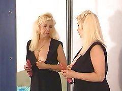 Mature blonde granny solo