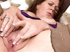 Lingerie, Masturbation, Mature, Pantyhose