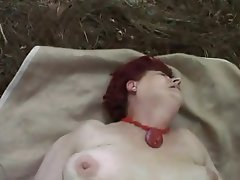 Granny, Old and Young, Outdoor, POV, Redhead