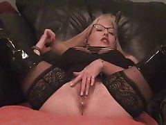 Ass chastity finger her masturbate nipples pierced watch
