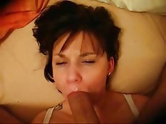 Amateur, Blowjob, Brunette, Facial