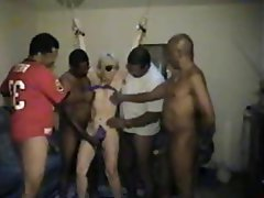 Mature amateur interracial gangbang