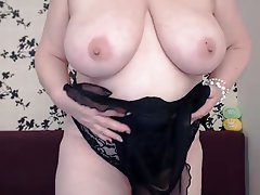 Granny, Masturbation, Webcam