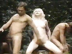 Cumshot, Double Penetration, Group Sex, Interracial, Midget