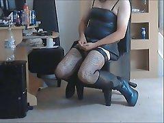 British, Latex, Masturbation, Stockings, Voyeur