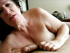 Blowjob, Granny, Mature, POV