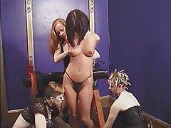 BDSM, Lesbian, Brunette, Group Sex, Big Boobs