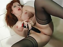 MILF, Pantyhose, Redhead, Stockings