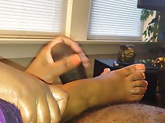 Cumshot, Foot Fetish, Handjob, Mature