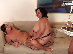 Mature big tits orgy