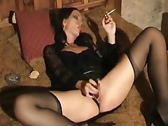 Latex, Masturbation, Stockings