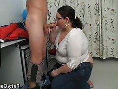 Bbw seduces student into sex