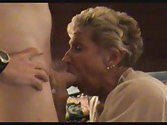 Granny, Cumshot, Blowjob