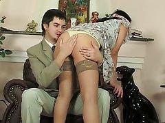 Natasha anal pantyhose Brunette