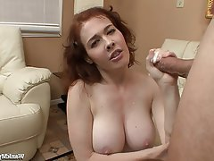 Big Boobs, Hairy, Handjob, Masturbation, Redhead