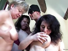 Group Sex, Granny, Mature, Big Boobs, Old and Young