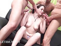 Amateur, Anal, Brunette, French, Gangbang