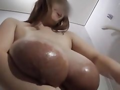 Asian, Big Boobs, Close Up, Nipples, Shower