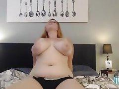 BBW, Big Boobs, Big Butts, Redhead, Webcam