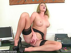 British, Mature, MILF, Secretary, Stockings