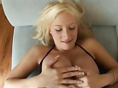 Big Boobs, Blonde, Pornstar, POV, Stockings