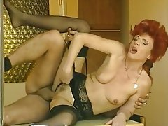 Blowjob, German, MILF, Redhead, Stockings