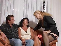 Amateur, German, MILF, Threesome