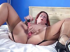Masturbation, Mature, MILF, Pantyhose, Stockings